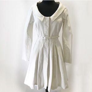 White Jean dress pinup style